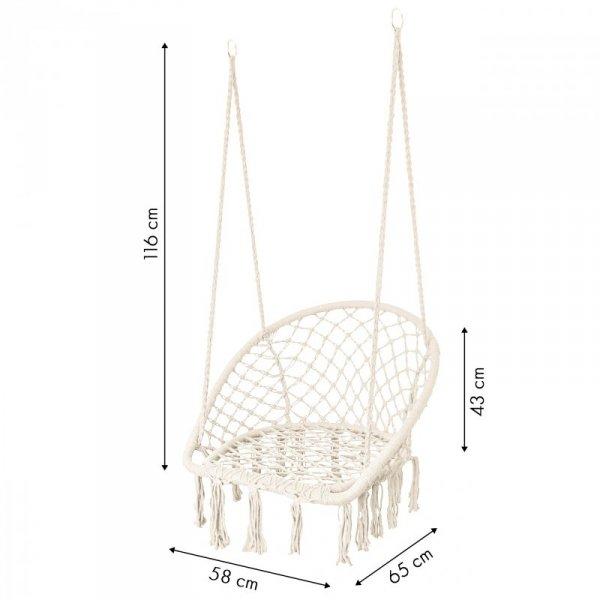 Fotel wiszący pleciona huśtawka MODERNHOME