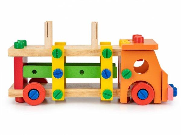 Drewniane klocki konstrukcyjne edukacyjne + narzedzia Ecotoys