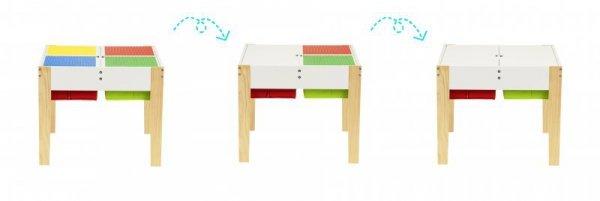 Drewniane meble dla dzieci zestaw stół +2 krzesła