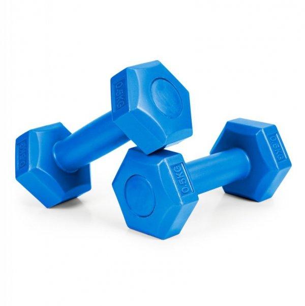 Hantle fitness zestaw hantelki ciężarki 2x 0,5 kg