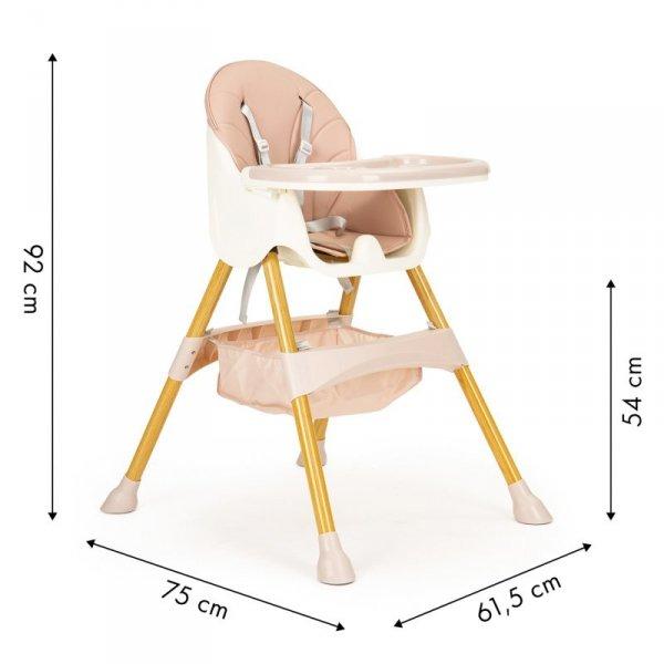 Fotelik krzesełko do karmienia dzieci wysokie 2w1 ECOTOYS