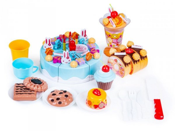 Tort do krojenia zestaw urodziny przyjęcie 75 el