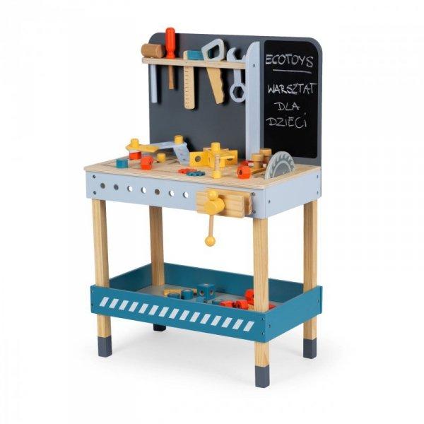 Drewniany warsztat z narzędziami - 47 el. Ecotoys