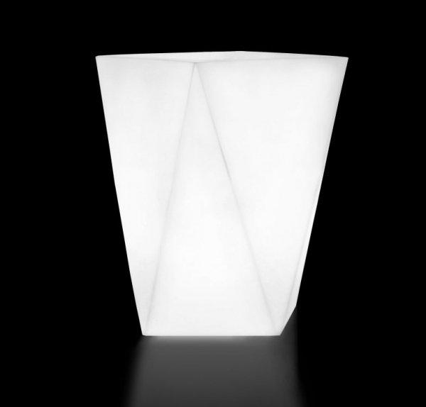Biała donica Vaso z oświetleniem