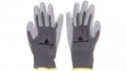 Rękawice dziane z poliestru (100%), dłoń powlekana Poliuretanem, ścieg 13 szare rozmiar 7 VE702PG07
