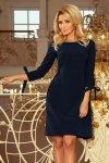 Sukienka z kokardkami Alice - Granatowa - numoco 195-5