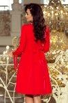 Sukienka z kokardkami Alice - Czerwona - numoco  195-4