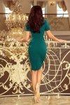 Sukienka Dorota  - elegancka - Zielona - numoco 150-4