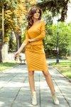 Sukienka sportowa - MIODOWA - numoco 13-112