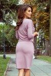 Sukienka z wiązanym dekoltem Janet - Pudrowy Róż - numoco 230-5