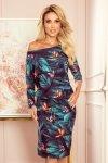 Sukienka sportowa z kieszonkami - kolorowe MOTYLE -1