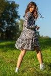 Sukienka z printem F1096 - Zebra - 1