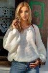 Luźny sweter o oversizowym kroju - F1102-ecru-3