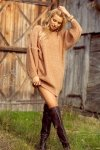 Dzianinowa sukienka-F1105-carmel-2