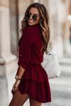 Sukienka Kylie - Bordo - StreetStyle 695