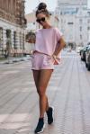 Komplet dresowy Comfort - Różowy - StreetStyle