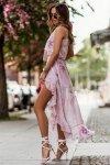 Zwiewna szyfonowa sukienka z falbankami - AMIS_2