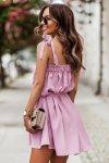 Sukienka ANDI z wiązaniami na ramionach - Róż_3