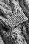 Luźny kardigan ze splotem -  LS297 - jasnoszary -11