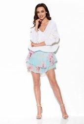 Zwiewna spódniczka z jedwabiem LG545 M druk 18