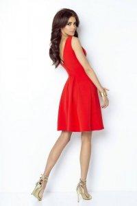 Rozkloszowana sukienka Tailor - Czerwony- Ivon