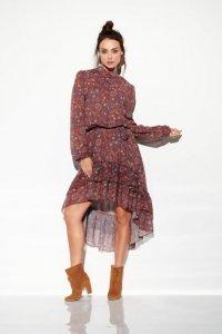 Sukienka z jedwabiem i krótszym przodem -StreetStyle LG504
