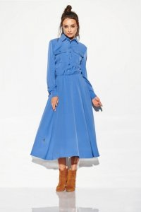 Sukienka szmizjerka maxi kolor - StreetStyle L314