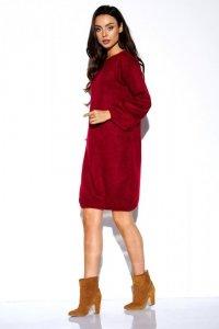 Swetrowa sukienka z szerokimi rękawami - StreetStyle LSG117
