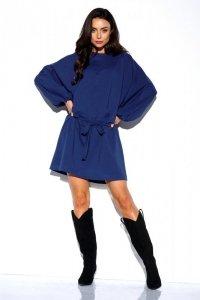 Dresowa sukienka z szerokimi rękawami - StreetStyle LN113