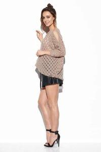 Ażurowy sweter z odkrytymi ramionami -StreetStyle -LS286