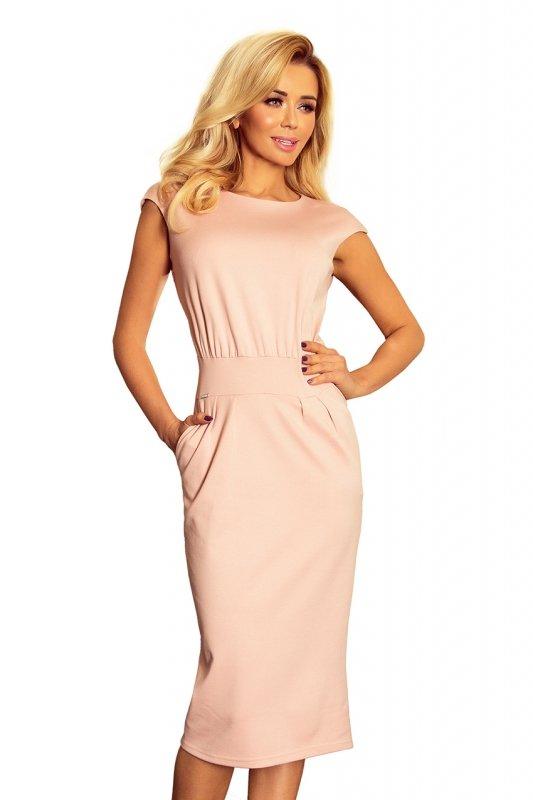 Sukienka midi Sara - Brudny Róż - numoco 144-6