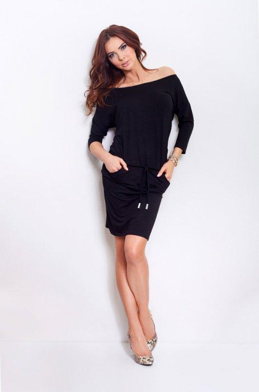Sukienka sportowa - Czarna - numoco 13-1A