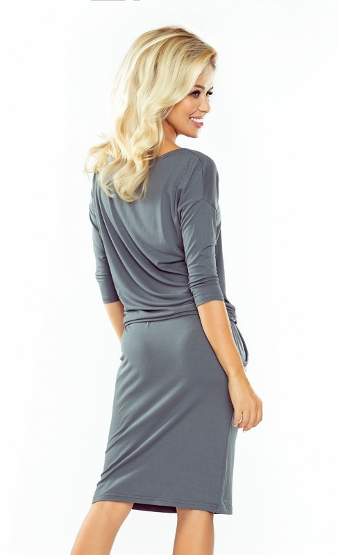 Sukienka sportowa - Ciemny  Szary gładki - numoco 13-75