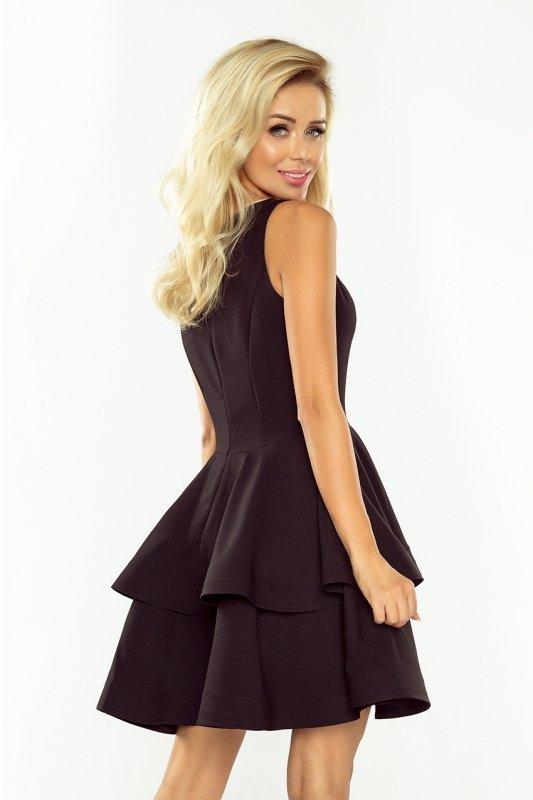 Sukienka CRISTINA rozkloszowana - Czarna - numoco 169-3