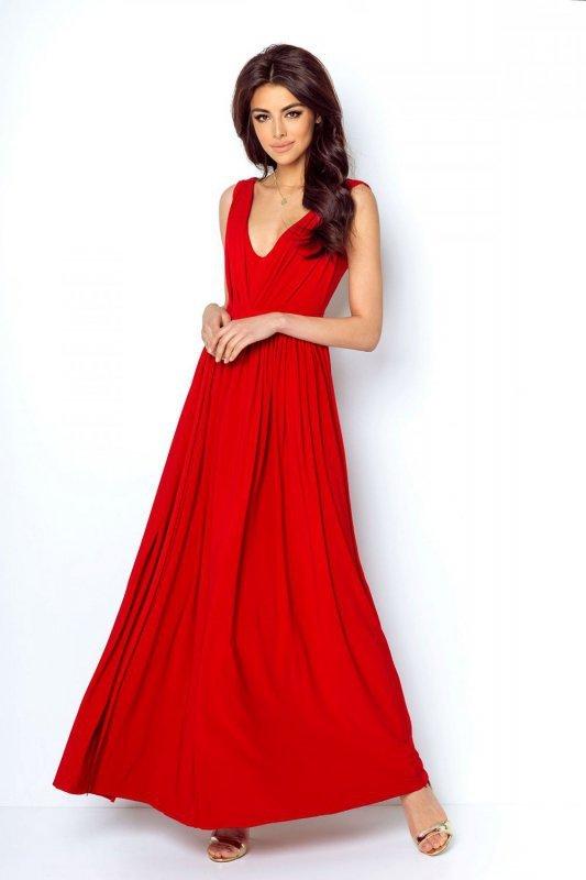 Długa sukienka Rebeca - Czerwona - Ivon
