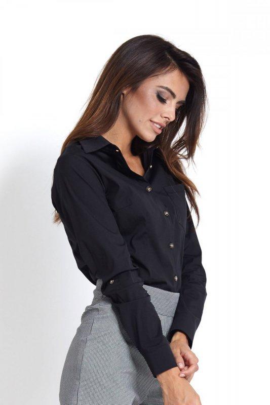 Koszula z kieszonką Melanie - Czarna - Ivon