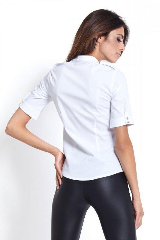 Koszula ze stójką Selena - Biała - Ivon