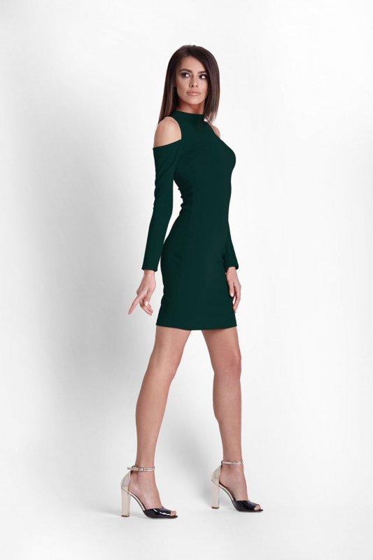 Dopasowana  sukienka  Lara - zielona - StreetStyle 505