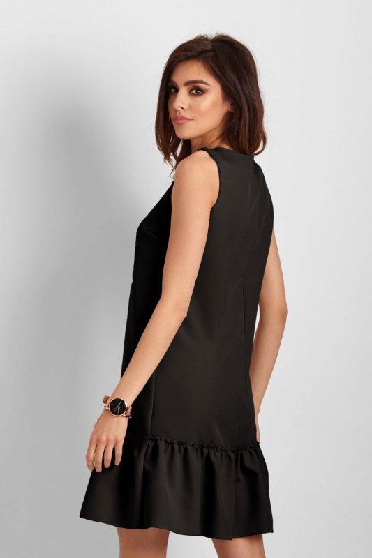 Elegancka sukienka Lorena bez rękawów -Czarna - Ivon