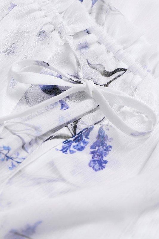 Szyfonowa  Sukienka Bali - Biała - StreetStyle 723