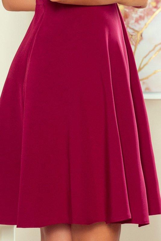 Sukienka z falbanką Anita - Bordowa