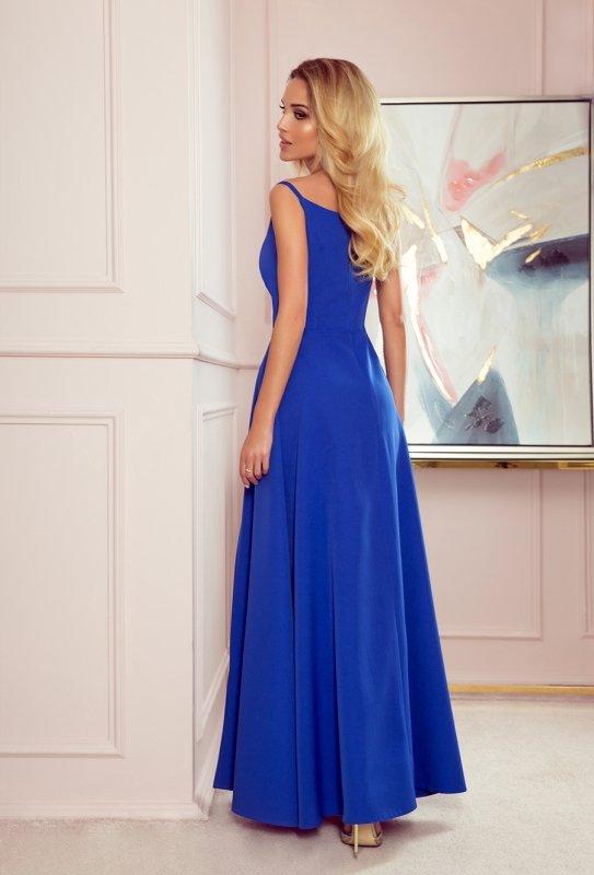 CHIARA elegancka maxi suknia na ramiączkach - CHABROWA - 2