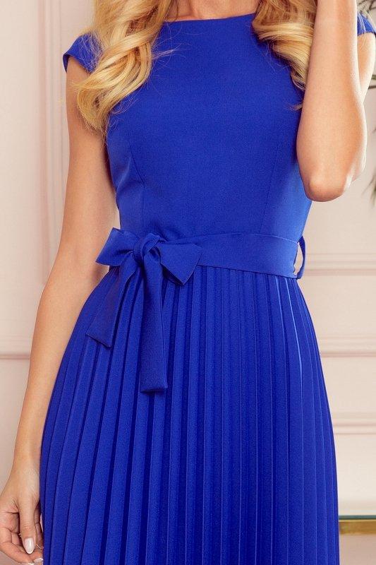 LILA Plisowana sukienka z krótkim rękawkiem - CHABROWA