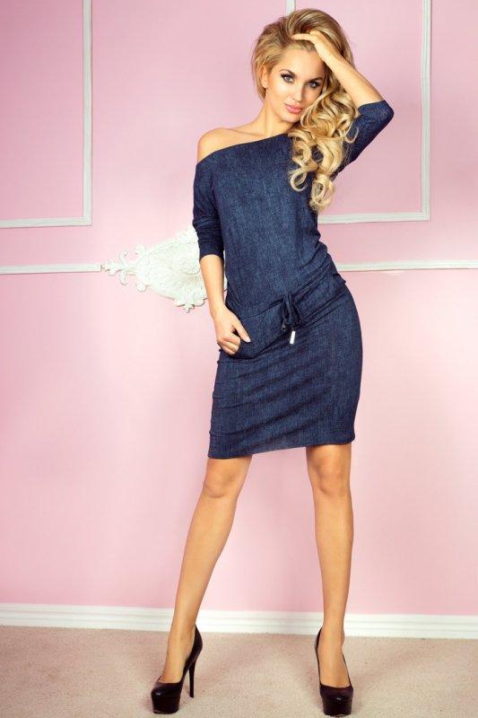 Sukienka sportowa - Wiskoza - jeans granatowy