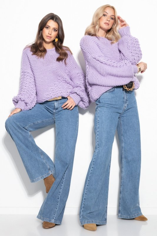 Sweter Chunky Knit F1125 - Fiolet -2