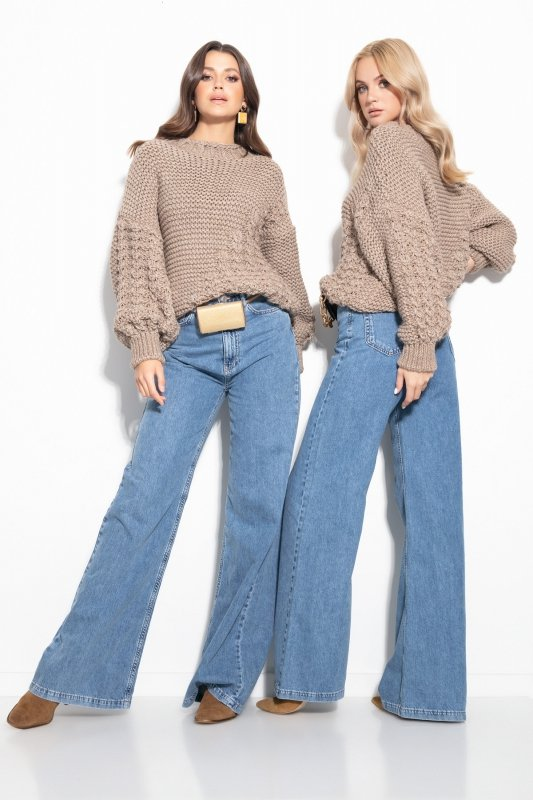 Sweter Chunky Knit F1125 - Mocca -2
