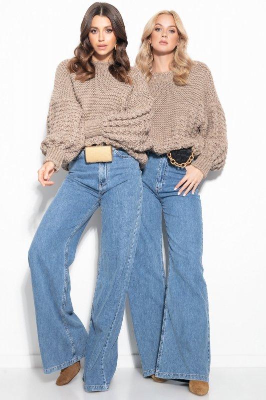 Sweter Chunky Knit F1125 - Mocca -3