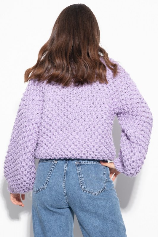 Sweter Chunky Knit F1135 - Fiolet - StreetStyle.net.pl - 6