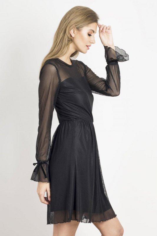 Sukienka Swing - Czarna - Ivon