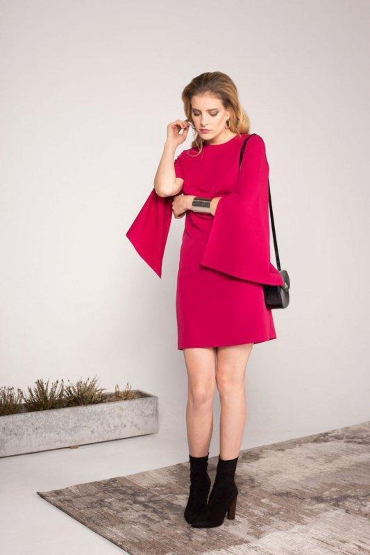 Sukienka Clarissa - Bordowa - Ivon